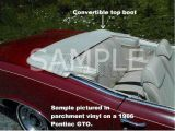 Ford Convertible Top Boot